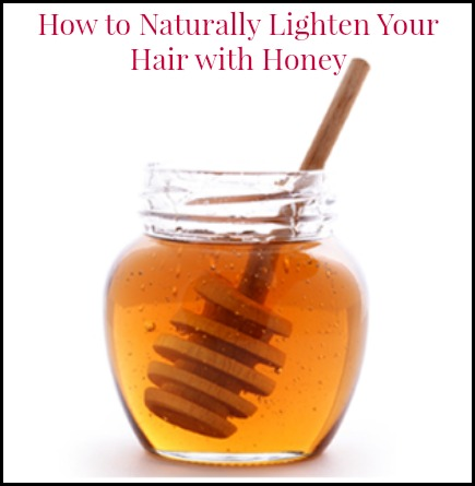 naturally lighten hair with honey