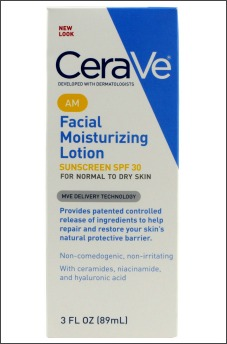 ceraVe facial moisturizing lotion for dry sensitive skin
