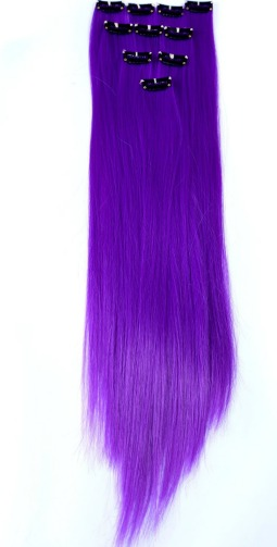 clip in purple hair extensions