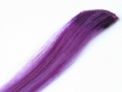purple hair extensions clip in